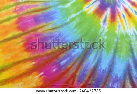 colorful tie dyed fabric background.  - stock photo