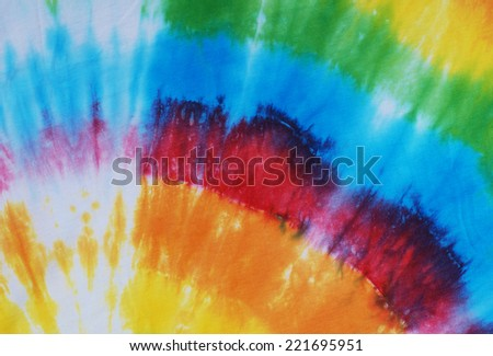 colorful tie dyed fabric for background.  - stock photo