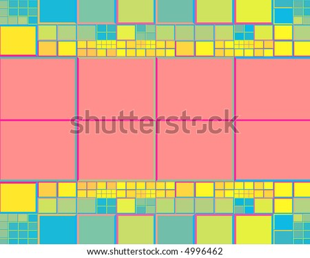 colorful tile background design with copyspace