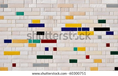 colorful tiles abstract - stock photo