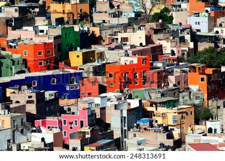 Colorful town of Guanajuato, Mexico - stock photo