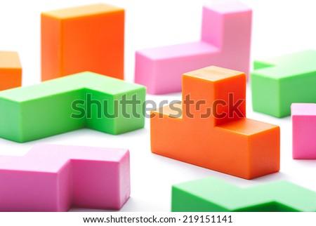 Colorful Toy Blocks - stock photo