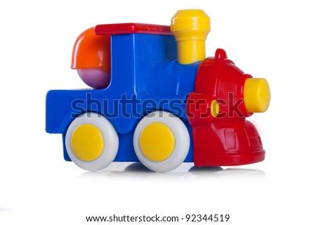 colorful toy locomotive - stock photo
