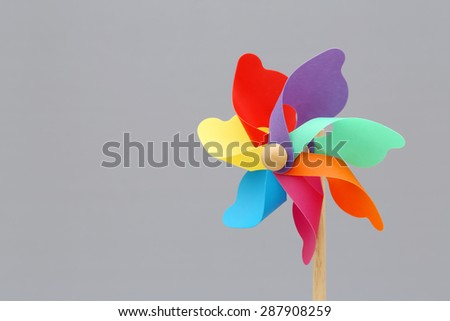 Colorful toy pinwheel  - stock photo
