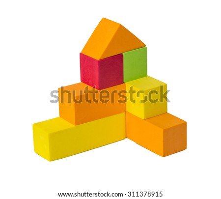 Colorful toy shape