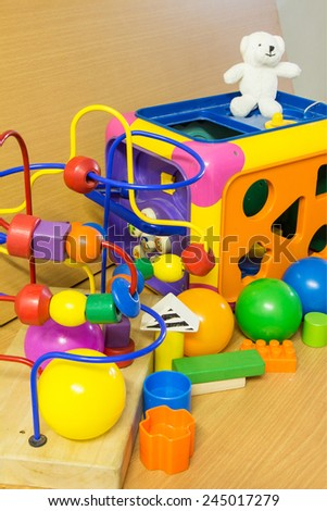 Colorful Toys Collection - stock photo