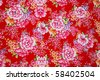 Colorful Traditional, Oriental Floral Pattern - stock photo