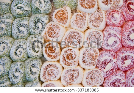 Colorful Traditional Turkish Delight Background