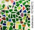 Colorful trencadis broken tiles mosaic. - stock photo