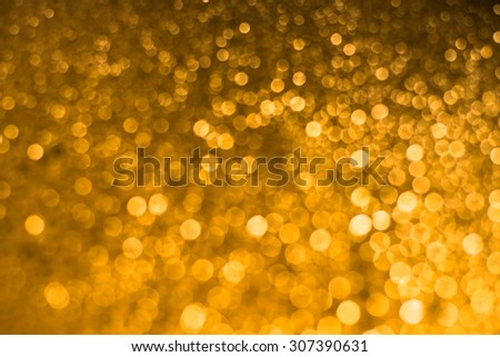 colorful twinkling lights bokeh light background ,gold bokeh