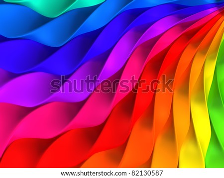 Colorful twisted stripe background - stock photo