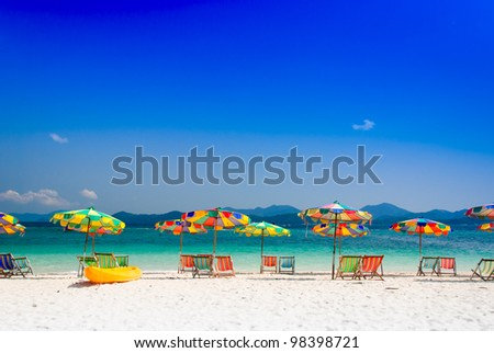 colorful umbrellas at beach