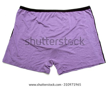 Colorful underwear isolated on the white background.