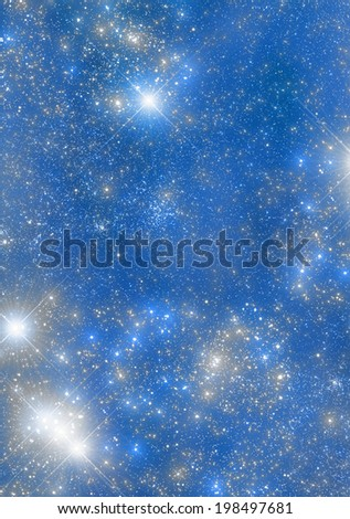 Colorful universe with bright stars.  - stock photo