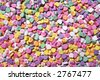 Colorful Valentines heart candy that can be used as a background - stock photo