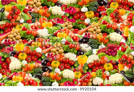 Colorful vegetable background in high resolution - stock photo