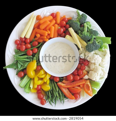 Colorful vegetable platter - stock photo