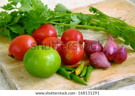colorful vegetables in Thailand