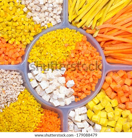 Colorful vegetables on a plate  - stock photo