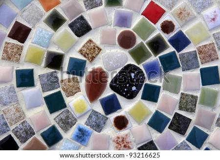 Colorful vintage mosaic tile design for your background - stock photo