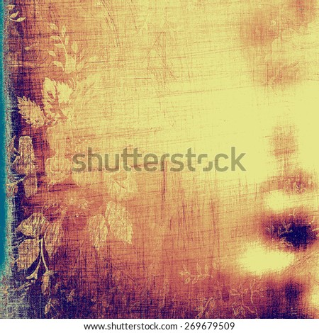 Colorful vintage texture. With different color patterns: purple (violet); blue; yellow (beige) - stock photo