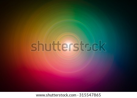 Colorful vivid circle rainbow  abstract dark background