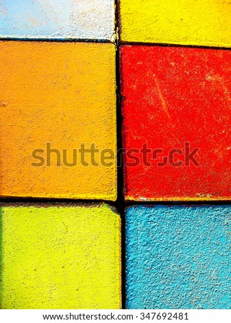 Colorful wall background  pattern vintage
