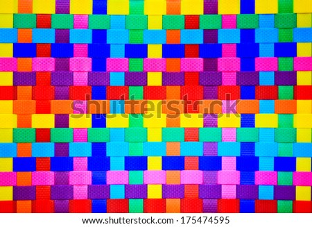 colorful wall plastic line - stock photo