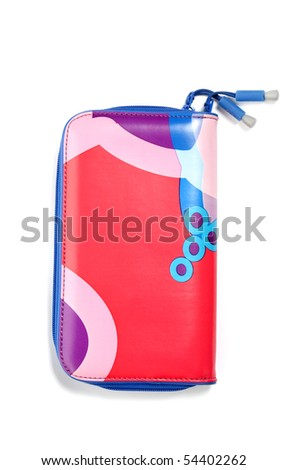 Colorful Wallet on isolated white background - stock photo