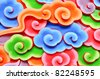 Colorful wallpaper with chinese style pattern - stock photo