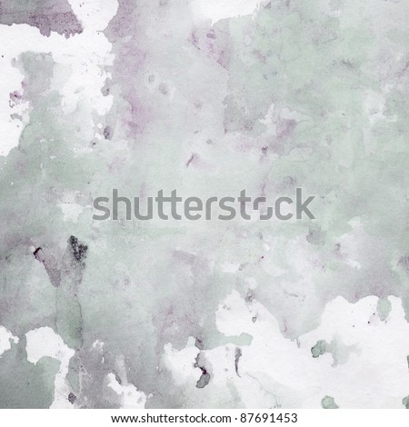 Colorful water color pouring on a paper a background overflowing - stock photo