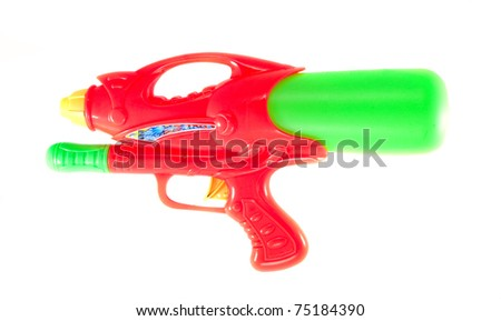 colorful water gun that use for water festival in thailand - stock photo