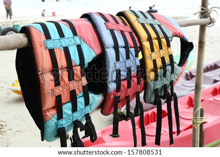 Colorful water life vest