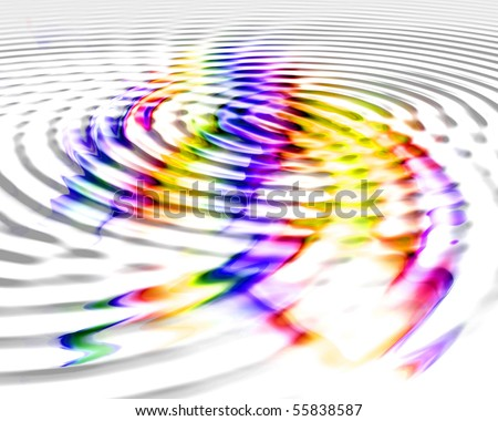 Colorful Water Ripples - stock photo
