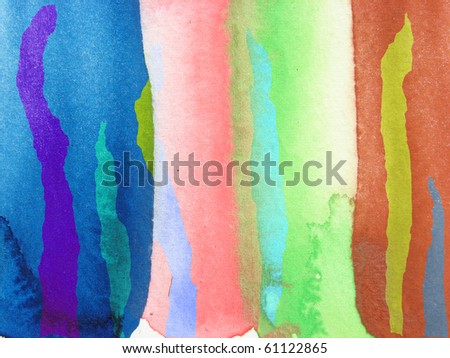 colorful watercolor background design stripes - stock photo