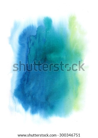 Colorful Watercolor Brush Painting Abstract Background Design