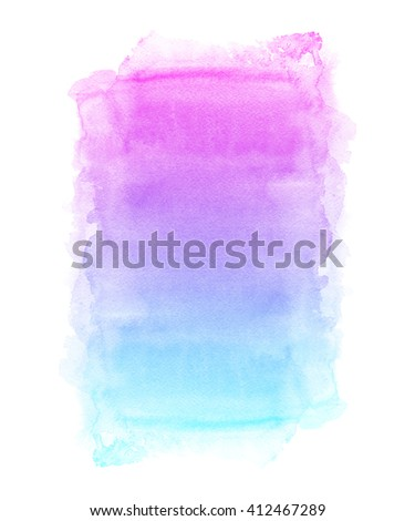Colorful watercolor hand painted background with artistic rough edges and bright tropical sunset colors. - stock photo