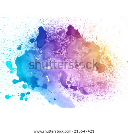 Colorful watercolor on white paper.  Aquarelle background.  - stock photo