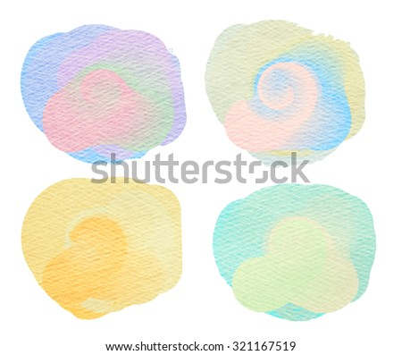 Colorful watercolor painted background