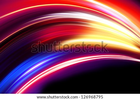 colorful wave - stock photo