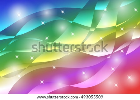Colorful wave of abstract image
