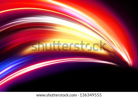 colorful wave on a black - stock photo