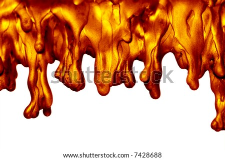 Melted wax drips