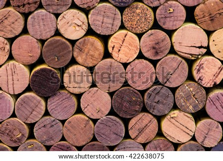 colorful wine corks background