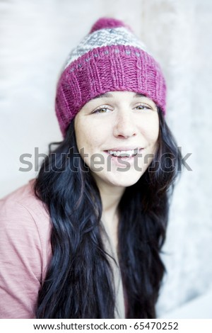 colorful winter woman