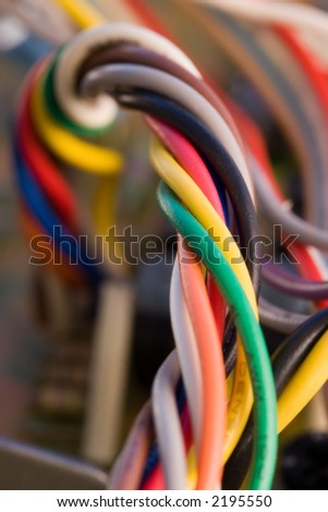 Colorful wires - stock photo