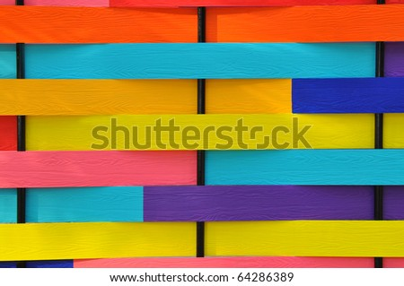 Colorful Wood Background - stock photo
