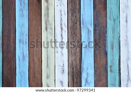 colorful wood background. - stock photo
