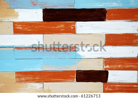 Colorful wood board - stock photo