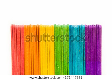colorful wood ice cream